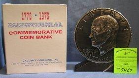 Vintage Eisenhower Coin Bank Mint With Original Box