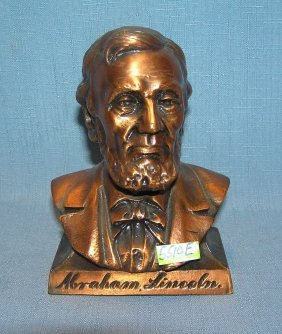 Abraham Lincoln Figural Cast Metal Bank