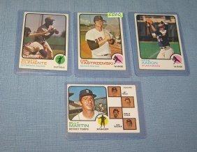 Group Of 4 Vintage 1973 Topps All Star Baseball Cards