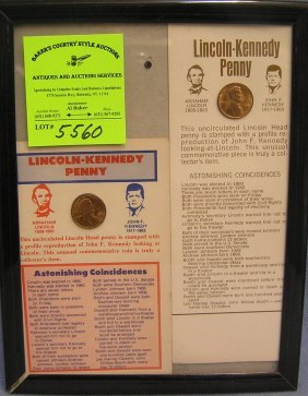 Pair Of Lincoln And Kennedy Pennies
