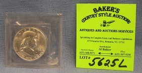 All Silver Bnjamin Franklin Half Dollar Coin