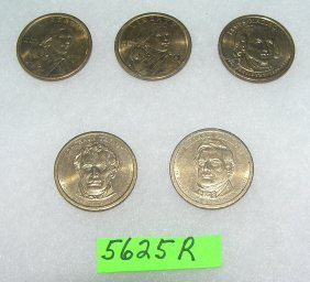 Group Of Us Golden Dollar Coins