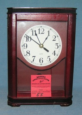 Mahogany Quartz Clock