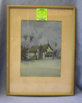 Artist Signed Watercolor Signed Hohn