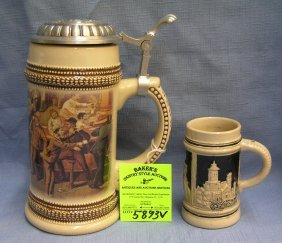 Pair Of German Beer Steins