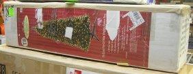 Large Seven Foot Pre Lit Slim Virginia Spruce Christmas