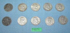 Group Of Early Us Early Half Dollar Coins