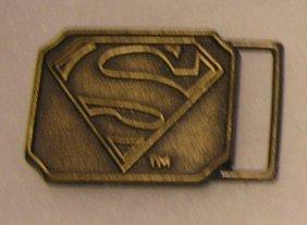 Dc Comics Solid Brass Superman Belt Buckle