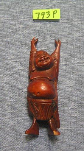 Vintage Hand Carved Buddha Figure