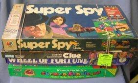 Group Of 4 Vintage Board Games