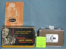 Vintage Kodak Brownie 8mm Movie Camera With Box