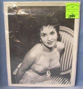 Vintage Gina Lollobrigida Publicity Photograph