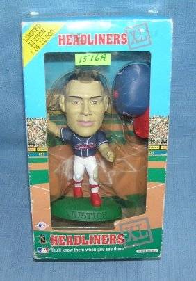 David Justice Bobble Head Doll