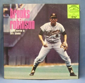 Vintage Brooks Robinson Record And Poster Set