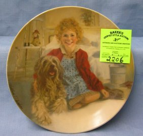 Vintage Annie And Sandy Collectible Plate
