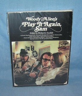"Vintage Woody Allen ""play It Again Sam"" Film Book"