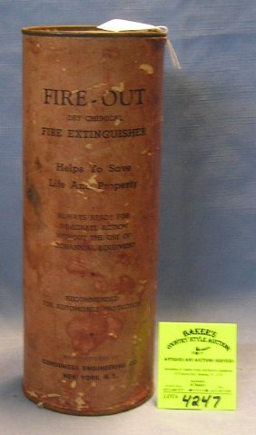Fire Out Antique Fire Extinguisher