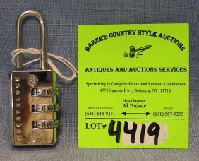 Vintage Combination Lock By Prestolock Usa