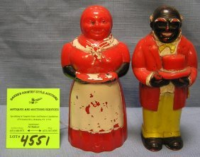 Aunt Jemima And Uncle Remus Bakelite S&p Shaker Set
