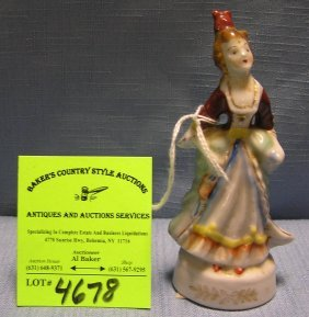 Victorian Woman Figurine Made In Occupied Japan