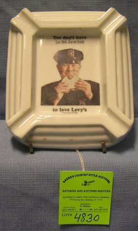 Early Levi's Jewish Rye Advertising Ash Tray