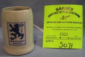Vintage Lowenbrau Advertising Miniature Beer Stein