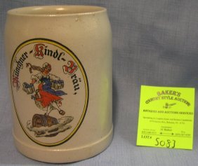 Antique German Advertising Beer Mug