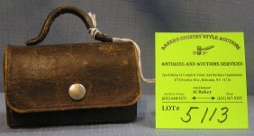 Antique Leather Doctors Bag Salesman Sample