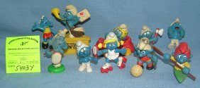 Large Group Of Early Smurf Toys