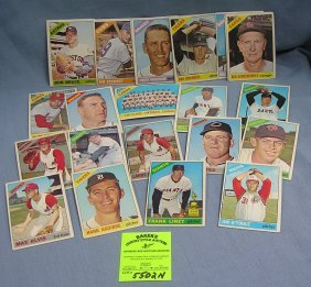 Group Of Vintage 1966 Topps Baseball Cards
