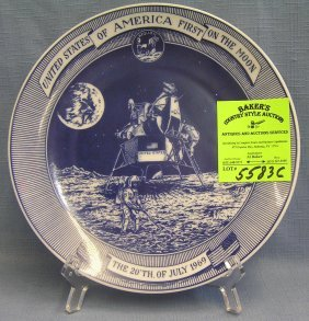 Commemorative Moon Landing Plate