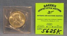 All Silver Benjamin Franklin Half Dollar Coin