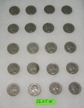 Group Of Us 1960's And 1970's Quarters