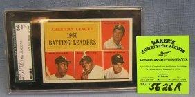 1961 Topps Amer. League Batt. Leaders Graded Card