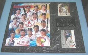 2003 Boston Red Sox Team All Star Plaque