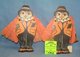 Vintage Die Cut Scare Crow Halloween Decorations