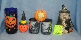 Vint. & Mod. Porcelain & Glass Halloween Decorations