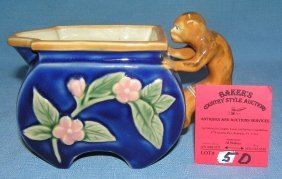 Majolica Hand Painted Decorated Pitcher