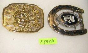 Pair Of Vintage Belt Buckles