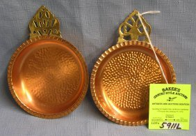 Pair Of Copper And Brass Porringers