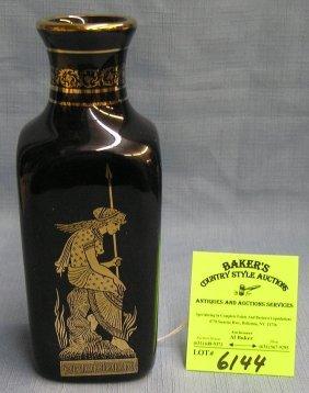 24 Karat Gold Decorated Handmade Greek Vase