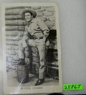 Early Buster Crabbe Photo Post Card