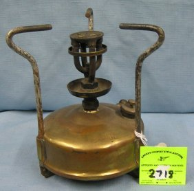 Antique Brass Oil Stove By Optimus