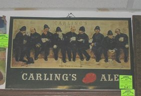 Antique Carlings Ale Store Display Sign