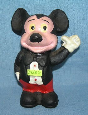 Hand Painted Cast Iron Mickey Mouse Bank