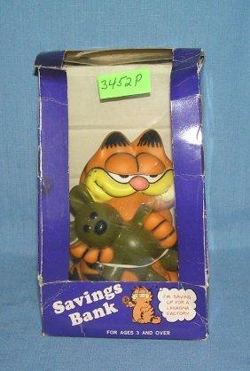 Vintage Figural Garfield Savings Bank