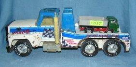 Pair Of Vintage Metal Toy Trucks