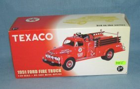 Texaco All Cast Metal 1951 Ford Fire Truck