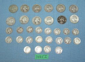 Group Of All Us All Silver Coins