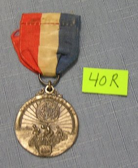 Spring Century Bicycle Run Medal And Ribbon